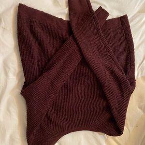 Aerie twist back sweater